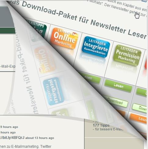 Online Marketing Best Practices: Pagepeel Technik um Kontakte zu gewinnen