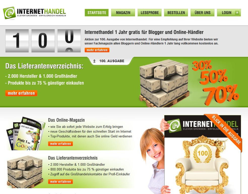 Internethandel.de - die 100. Ausgabe ist da!